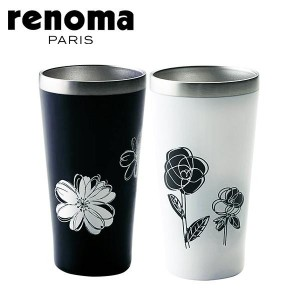 renoma(レノマ) ペアメタルサーモタンブラー (黒・白×各1) 340ml R-8027 51427