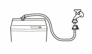 三栄水栓 SANEI 自動洗濯機給水ホース PT17-1-1.5