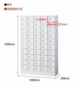 SEIKO FAMILY(生興) 小物入れロッカー 5列10段50人用・ダイヤル錠タイプ KLKW-50-D