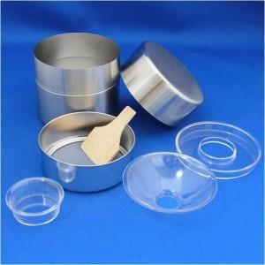 ステンレス抹茶篩 お抹茶の保存に最適なステンレスの抹茶篩です