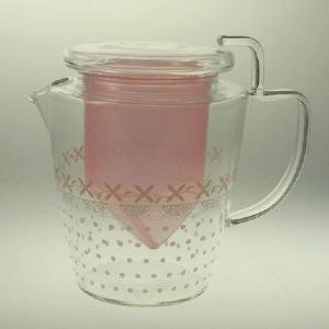セレック 耐熱ガラスティーポット アットホーム ベリーピンク   オススメ商品