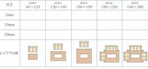 ラグマット おしゃれ 3畳 190×280 10mm厚 マイクロファイバーラグ