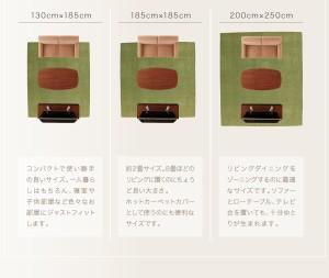 ラグマット おしゃれ 約1.5畳 長方形 130×185cm ラグマット