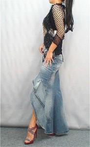 デニムスカート マーメイドスカート ロングスカート マキシ丈スカート 美脚ラインも綺麗スカート スカート タイトなマキシ丈スカート