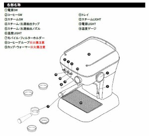 ascaso(アスカソ) DREAM サーモブロックタイプ 家庭用エスプレッソマシン 110006 ラブレッド(支社倉庫発送品)