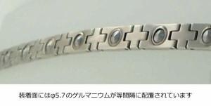 MARE(マーレ) ゲルマニウムブレスレット PT/IP ミラー/マット 171S (16.15cm) H9389-03S