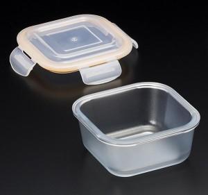 セラベイク(セラミックコーティング耐熱ガラス) スクエアロースターM(蓋付) 500ml K-9496