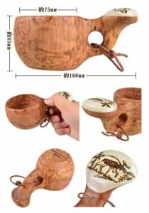 BushCraft ブッシュクラフト バーチククサシリーズ(木製マグカップ) カーリーバーチ&ヘラジカのツノ ヘラジカ