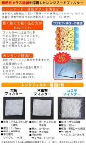 コスモフィルター 小型浅型レンジフード 磁石用 取り付け枠・フィルターセット 縦38.0×横38.0cm