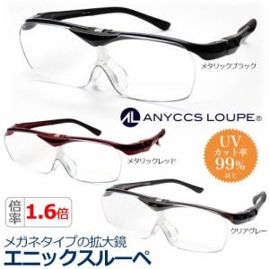 メガネタイプの拡大鏡 エニックスルーペ 1.6倍