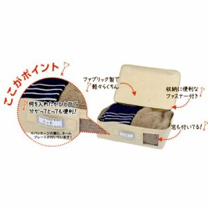 パール金属 ファブリック収納ボックス 衣類収納ケース フタ付き 幅38×奥行26×高さ12.5cm(支社倉庫発送品)