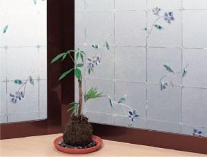 窓飾りシート(同調タイプ) GPL-4660 ブルー 46cm丈×90cm巻