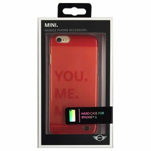 MINI 公式ライセンス品 Hard case Transparent Orange iPhone6 用 MNHCP6TROR(支社倉庫発送品)