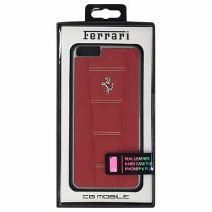 FERRARI 公式ライセンス品 458 Red Leather with Beige Stitchings Hard Case iPhone6 PLUS用 FE458HCP6LREB(支社倉庫発送品)