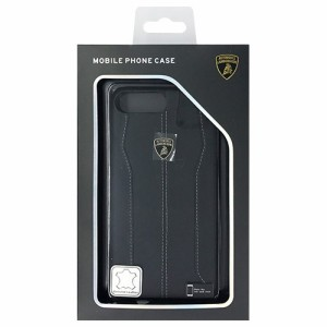 LAMBORGHINI Genuine leather back cover - Black LB-HCIP7P-HU/D1-BK(支社倉庫発送品)