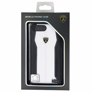 LAMBORGHINI Genuine leather back cover - White LB-HCIP7P-HU/D1-WE(支社倉庫発送品)
