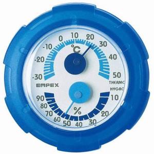 EMPEX 温・湿度計 シュクレミニ温度・湿度計 TM-2386 クリアブルー(支社倉庫発送品)