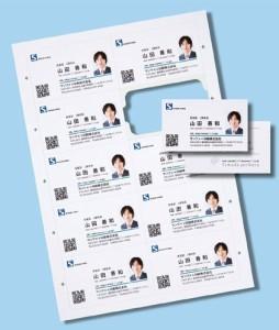 インクジェットまわりがきれいな名刺カード・標準(A4 10面 20シート200カード入り)(支社倉庫発送品)