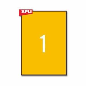 APLI 蛍光ラベル20枚1面 210×297mm