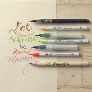 呉竹 カラー筆ぺんで書くカリグラフィー アイデアブック テキスト ECF20(5個セット)