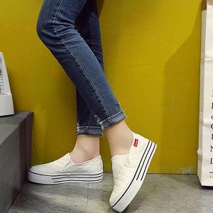 シューズ レディース 靴 厚底3.5cm キルティング スリッポン スニーカー (bo-209) *a
