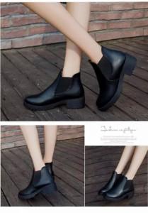 シューズ レディース 靴 厚底 サイドゴアブーツ チャンキーヒール ショートブーツ 【bo-286】  *a