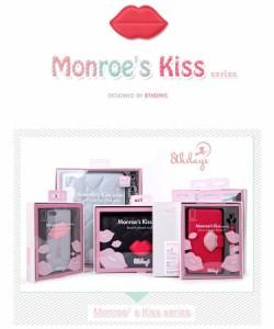 【メール便送料無料】 8thdays GALAXY S4 SC-04E Monroe's Kiss series 手帳型 ケース