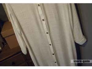 ロングシャツ 春夏  グレー リネン風シャツ レディース ホワイト  薄手 紫外線対策 ブラウス シャツ