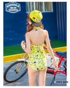 水着ワンピース レディース 2点セット 女の子 フラワー セクシー 大人 海水浴 花柄 かわいい ビーチ 体型カバー セパレート