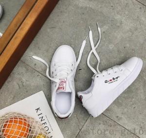スニーカー レディース 刺繍 ローカット 靴 PU刺繍スニーカー 白GATO 刺繍スニーカー 黒 レースアップ シューズ