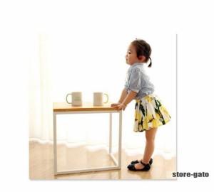 キッズスカート プリーツスカート スカート 可愛い デザイン キッズファション キッズ 入園式 入学式 女の子 レモン柄 卒園式 ふんわり