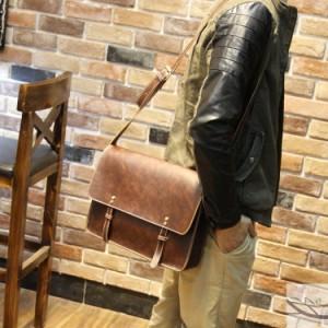 大人気♪PUレザー ショルダーバッグ メンズ ショルダーバッグ デイリー 合成皮革 カバン かばん 旅行