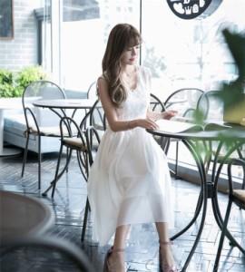 ワンピース ロング丈ワンピ パーティー 上品 新作 大人 レディース夏ワンピ 通勤 着痩せ 結婚式 OL ドレス