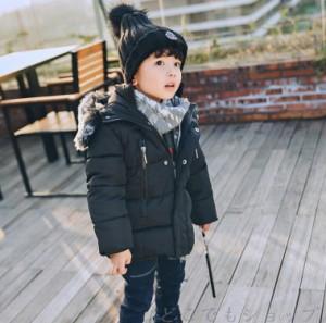 ベビー服 子供服 ダウンコート 男の子 防寒 女の子 フード付き可愛い アウターウエア 保温 コート 中綿ジャケット 赤ちゃん