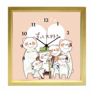 時計 掛け時計 ハンドメイド 壁掛け / ナチュラル / kuko(くこ) /ずっと大好き/ kuko-15n/ おしゃれ 玄関 リビング キッチン