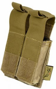 【FLYYE】MOLLE Double .45 Pistol Magazine Pouch A-TACS マガジンポーチ サバイバル/ミリタリー FY-PH-P006-AT