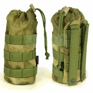 【FLYYE】MOLLE Water Bottle Pouch A-TACS FG (A-TACS森林ver) ウォーターボトルポーチ サバイバル/ミリタリー FY-PH-C001-FG