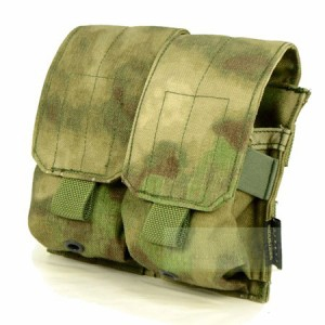 【FLYYE】MOLLE Double M14 Mag Pouch A-TACS FG (A-TACS森林ver) マグポーチ サバイバル/ミリタリー FY-PH-M009-FG