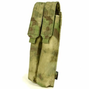 【FLYYE】Molle Double P90/UMP Magazine Pouch A-TACS FG (A-TACS森林ver) マガジンポーチ サバイバル/ミリタリー FY-PH-M022-FG