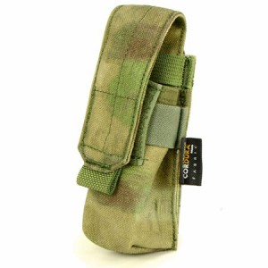 【FLYYE】MOLLE Single 9mm Mag Pouch Ver.FE A-TACS FG (A-TACS森林ver) マガジンポーチ サバイバル/ミリタリー FY-PH-P004-FG