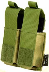 【FLYYE】MOLLE Double 9mm Pistol Magazine Pouch Ver.HP A-TACS FG (A-TACS森林ver) マガジンポーチ FY-PH-P008-FG