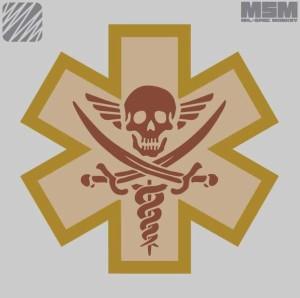 MIL-SPEC MONKEY(ミルスペックモンキー)MSM パッチ TACTICAL MEDIC - PIRATE サバイバル/ミリタリー SK-38752-38756
