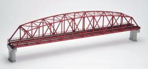 【鉄道模型(Nゲージ)】【TOMIX】3221 複線曲弦大トラス鉄橋(F)(赤)(複線PC橋脚・2本付) KM-4543736032212