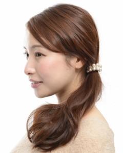 ヘアゴム ヘアアクセサリー パール ゴールド 髪留め ゴム シンプル 大人 かわいい 人気 結婚式 ギフト プレゼント vi-0454