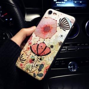 iphone6s ケース iphone6 ケース  アイフォン6sケース  スマホケース 保護カバー 背面カバー 3D浮き彫り ストラップ付き シリカゲル