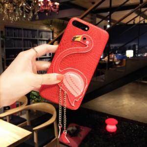 iphone6s ケース iphone6 ケース  アイフォン6sケース アイフォン6 カバー スマホケース 背面カバー フラミンゴ ペンダント かわいい