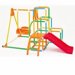 ★送料無料★ NEW ブランコパーク DX 123 カラフル 遊具 ぶらんこ ジャングルジム すべり台 アガツマ