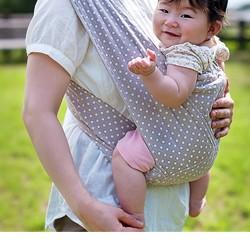 ★送料無料★ キウミの抱っこ紐 L ドットアプリコット kiumi 子守帯 抱っこひも だっこひも キウミベビー
