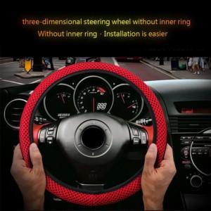 ユニバーサルトラック車の通気性アンチスリップステアリングホイールカバーガード車スタイリングオートステアリングホイールカバー
