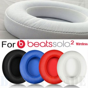 For Beats Solo 2.0 3.0 ワイヤレス Bluetoothイヤホン 交換用 イヤーパッド イヤークッション  1ペア
